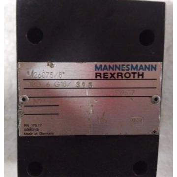 DBD6G18/315 India Mexico Pressure relief valves,direct operated MANNESMANN REXROTH DBD SERIES