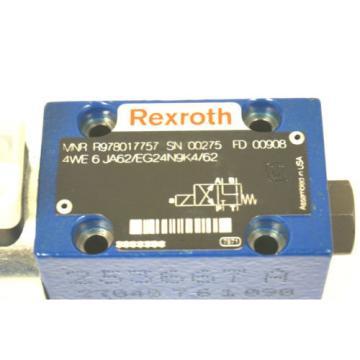 NEW Greece Egypt REXROTH R978017757 CONTROL VALVE 4WE 6 JA62/EG24N9K4/62