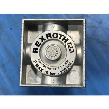 LOT France Italy OF 5 NEW REXROTH 5352700100 4-WAY PRESSURE VALVE REGLATOR REG 1/8BSP