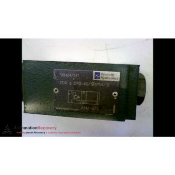 REXROTH USA Italy ZDR 6 DP2-43/75YM/12 HYDRAULIC VALVE #161408