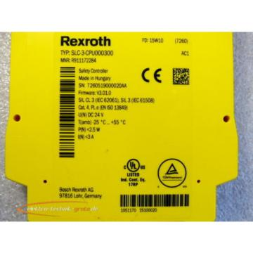 Bosch Russia Greece Rexroth SLC-3-CPU00300 / R911172284 Safety Controller > ungebraucht! <