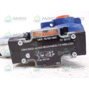 REXROTH Russia Canada R978919681 DBW15AG2-4X/200-6EG24N9DAL/12 W65=CSA *NEW NO BOX*