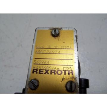 REXROTH Canada USA M-4SE10D20/630G24NZ4 *USED*