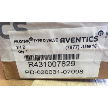 "Rexroth Russia India PD20031-7098 1/4"" D Pilotair Valve"