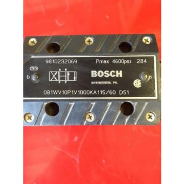 Bosch Egypt Dutch Hydraulic Valve Model O81WV10P1V1000KA115/60  9810232069