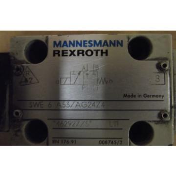 MANNESMANN China Korea REXROTH Ventilmagnet  3WE 6 A53/AG24Z4