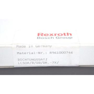 NEW Dutch Japan SEALED BOSCH REXROTH R961000746 CARTRIDGE VALVE SEAL KIT LC50A/B/DB/DR.-7X