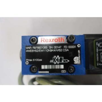 REXROTH Canada Mexico 4WE6Y62/EW110N9K4/V/62 120V-AC SOLENOID HYDRAULIC VALVE D549964