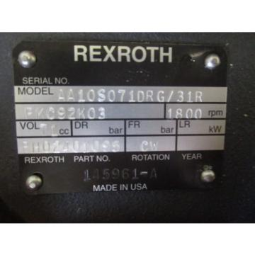 NEW Egypt USA REXROTH HYDRAULIC PUMP AA10S071DRG/31 BH02401095