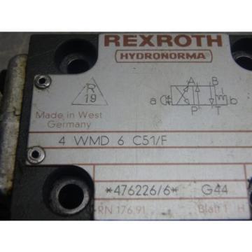 REXROTH Germany Dutch HYDRONORMA HYDRAULIC VALVE_4 WMD 6 C51/F_4WMD6C51F