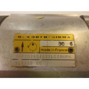 REXROTH SIGMA GEAR PUMP # 1PF2G240/022LC20KP
