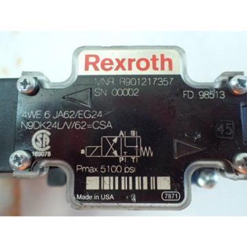 REXROTH Japan Dutch MNR R901217357 HYDRAULIC CONTROL VALVE, 5100psi MAX