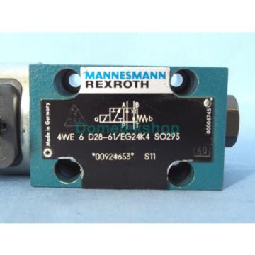 Mannesmann Canada Italy Rexroth 4WE 6 D28-61/EG24K4 SO293