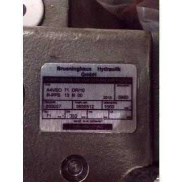 NEW Germany India Rexroth Brueninghaus Hydromatik Hydraulic Pump A4VSO 71 DR/10R-PPB13N00