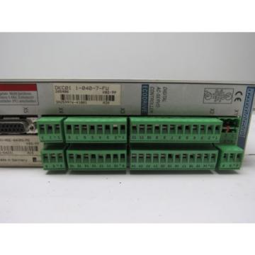 Rexroth France Japan Indramat DKC01.1-040-7-FW Eco Drive W/Manual