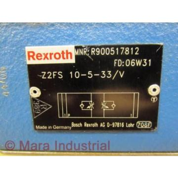 Rexroth Singapore Greece Bosch R900517812 Check Valve Z2FS 10-5-33/V - New No Box