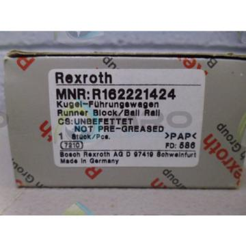 REXROTH Japan Germany R162221424 RUNNER BLOCK *NEW IN BOX*