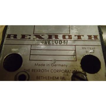 Rexroth Mexico Mexico 4WE10D4 Directional Control Valve _ 4WE1OD4