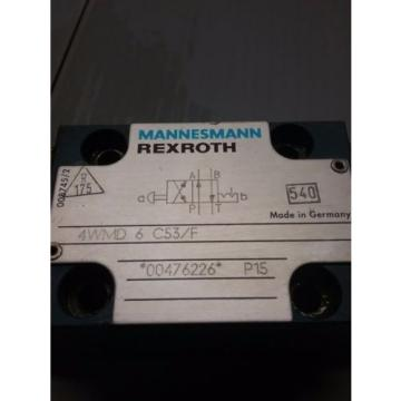 REXROTH Russia Russia MANNESMANN HYDRAULIC VALVE_4WMD 6 C53/F_4WMD6C53F_TNS-65/80D