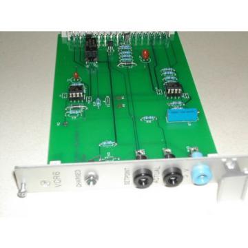 Process Australia India Equipment Co VCR6  Control Board Used Nice Rexroth (C42)