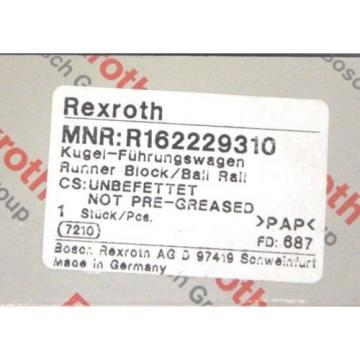 NIB Japan Canada REXROTH R162229310 LINEAR RUNNER BLOCK BALL RAIL