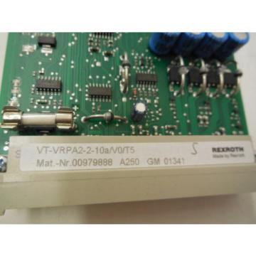 NEW France France REXROTH VT-VRPA2-2-10A/V0/T5 AMPLIFIER CARD VTVRPA2210AV0T5