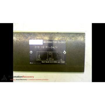REXROTH Korea Canada Z1S10P1-34/V VALVE SANDWICH MODULE, NEW* #164676