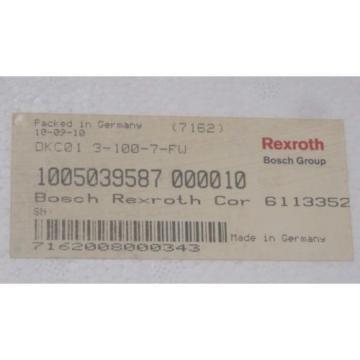 NEW Korea Russia REXROTH DKC01.3-100-7-FW SERVO DRIVE R911279429 , DKC0131007FW