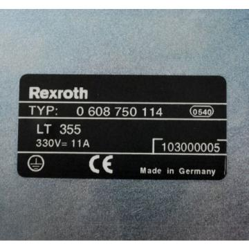 Rexroth France Australia LT355, Type: 0 608 750 114