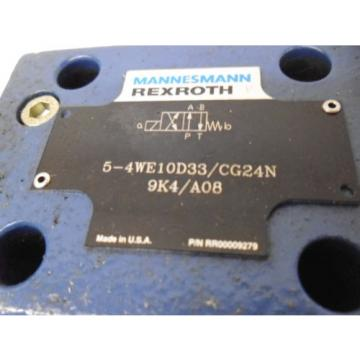 REXROTH Egypt USA 5-4WE10D33/CG24N9K4/A08 HYDRAULIC VALVE RR00009279 *NEW NO BOX*
