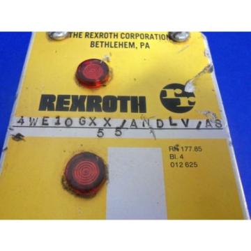 REXROTH Singapore Dutch 4WE10GXX/ANDLV/AS55110/120 VOLTS 50/60 HERTZ HYDRAULIC VALVE