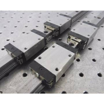 C138462 Korea Japan Lot 2 Rexroth 870mm Linear Slide Rails (4) Bearing Blocks R162219420 483