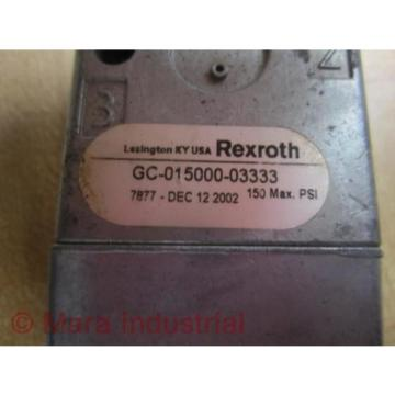 Rexroth India India GC-015000-03333 Directional Valve GC01500003333 - New No Box