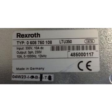 REXROTH Germany Italy *  0 608 750 108 SERVO AMPLIFIER  * LTU350