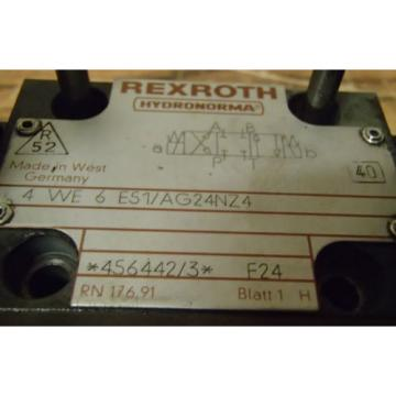 Rexroth Germany Greece Directional Control Valve 4-WE-6-E51/AG24NZ4_4WE6E51AG24NZ4_456442/3 F24