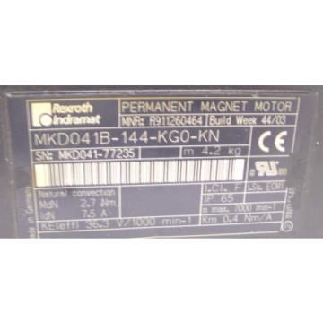 REXROTH Egypt Egypt INDRAMAT  PERMANENT MAGNET MOTOR   MKD041B-144-KG0-KN   60 Day Warranty!