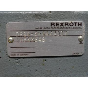 REXROTH Italy Russia ~ HYDRAULIC VALVE ~ P/N: DR20-5-44/200Y ~ NEW NO BOX