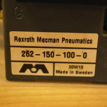 Rexroth France Russia 261-108-110-0 Pneumatic Valve, 24 VDC 2W Coil, 049-384-580-2 Valve