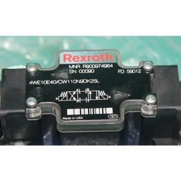 Mannesmann Canada Dutch Rexroth 4WE10E40/CW110N9DK25L Hydraulic Solenoid Valve R900974964