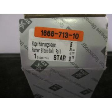 New Australia Canada Star / Rexroth Runner Block Ball Bearing - 1666-713-10