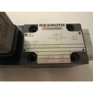 NEW Italy Italy REXROTH 4-WE-6-D52/BG24NZ4 DIRECTIONAL VALVE 4WE6D52BG24NZ4