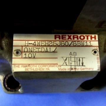 REXROTH Greece Dutch 120VOLTS 50/60HZ DIRECTIONAL CONTROL VALVE 4WE6J52/BW110NDALV