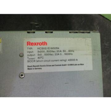 REXROTH Egypt Canada HCS20.1E-W0054 SERVO DRIVE *NEW NO BOX*