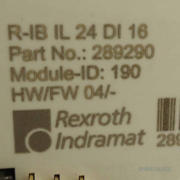 Rexroth Italy Canada Inline Digital-Eingabeklemme R-IB IL 24 DI 16 OVP