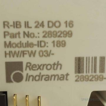 Rexroth USA Dutch Inline Digital-Ausgabeklemme R-IB IL 24 DO 16 OVP