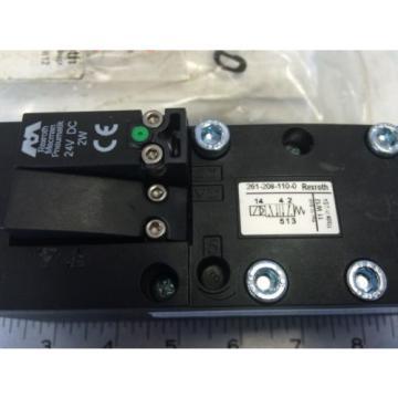 NEW Italy France BOSCH REXROTH 261-208-110-0 PNEUMATIC SOLENOID ISO VALVE 24 VDC NIB  GL