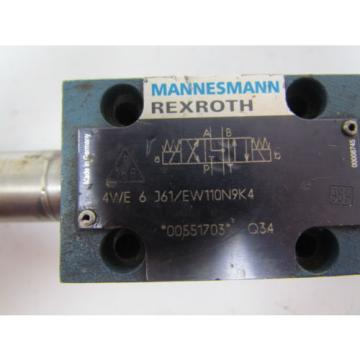 Rexroth Mexico Italy 4WE 6 J61/EW110N9K4 00551703 Directional control valve w/o coils