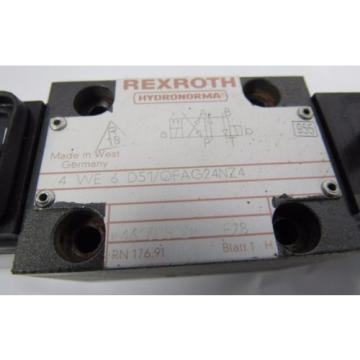 REXROTH Singapore Egypt 4 WE 6 D51/OFAG24NZ4 F28 24V DC 26W HYDRONORMA VALVE