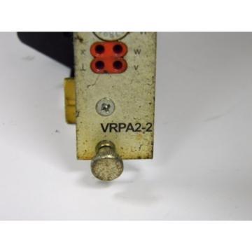 BOSCH Canada Japan REXROTH VT-VRPA2-2-10/V0/T5 HYDRAULIC AMPLIFIER CARD & CARD HOLDER VRPA2-2