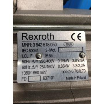 REXROTH Korea Australia 3 842 518 050 AC MOTOR NEW NO BOX (I2)
